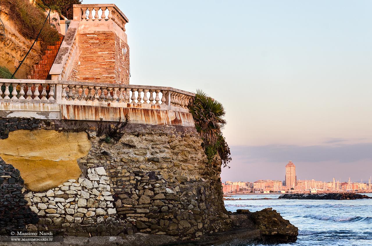 Belvedere sul mare, particolare. Villa privata.